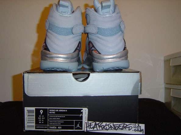 newest ecd23 2c452 Air Jordan 8 Retro Ice Blue air jordan 8 316836 401 Nike ...
